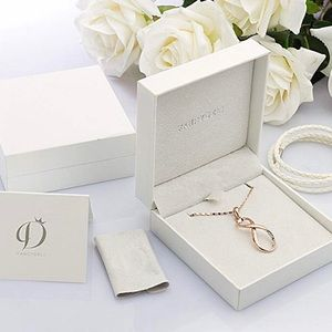 """Infinity Love"" Rose Gold Plated Pendant Necklace"
